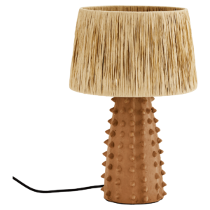 Raffia lamp